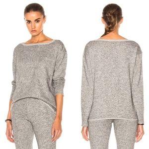 ATM  Extended Shoulder Sparkle Sweatshirt Gray NEW